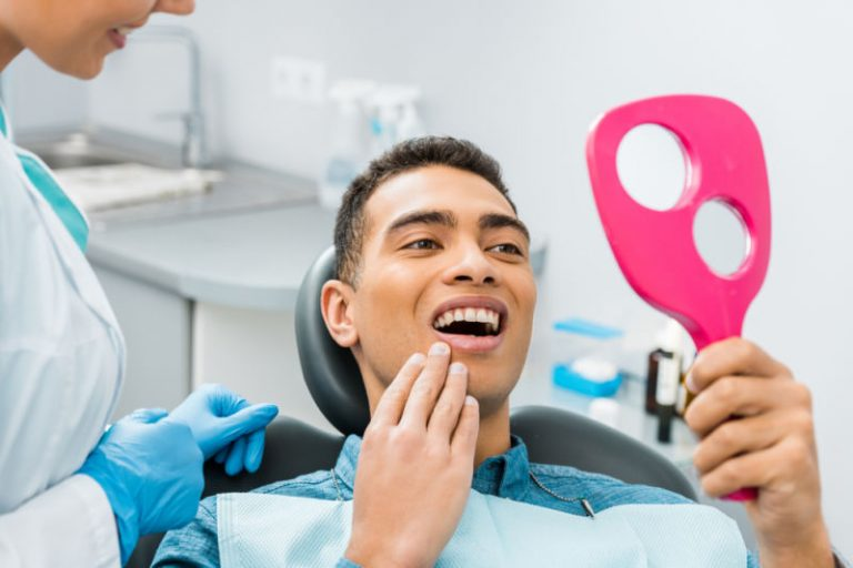 root canal Newton MA | Dental patient with dentist